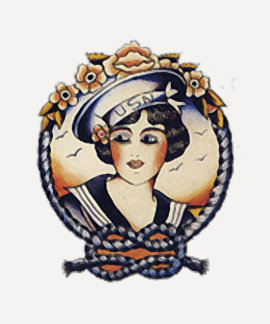 1920s Sailor Girl Shirts