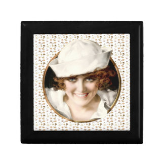 1920s Sailor Girl Small Square Gift Box