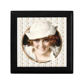 1920s Sailor Girl Small Square Gift Box