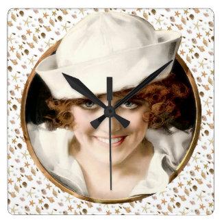 1920s Sailor Girl Wallclock