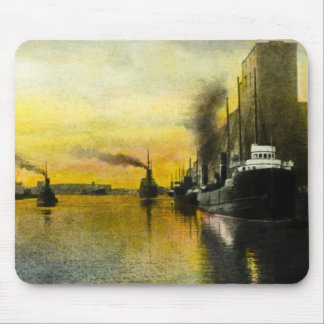 1920s Ships at Fort William, Ontario, Canada Mouse Pad