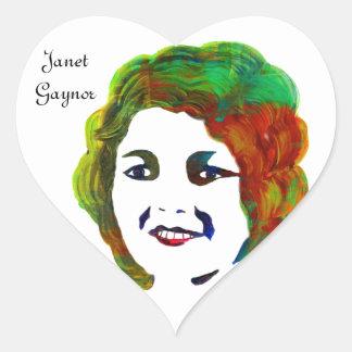 1920s Silent Movie Star Janet Gaynor Heart Sticker