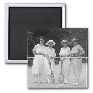1920s Tennis Fashion Magnet