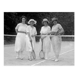 1920s Tennis Fashion Post Card