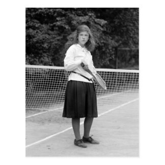1920s Tennis Style Postcard
