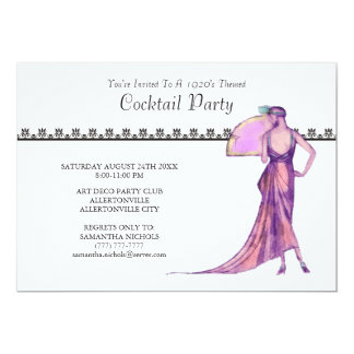 1920's Theme Cocktail Party Invitation