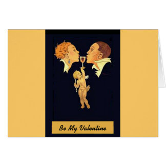 1920's Valentine Kiss Greeting Card