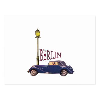 1920's Vintage Automobile - Berlin Postcard