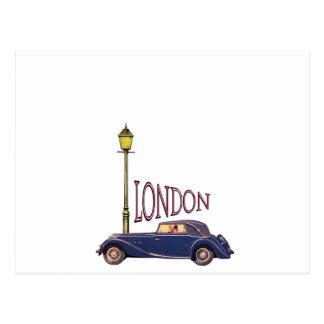 1920's Vintage Automobile - London Postcard