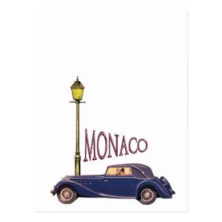 1920's Vintage Automobile - Monaco Postcard