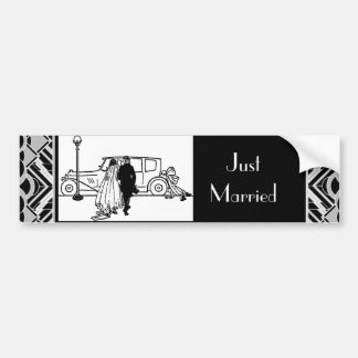 1920's Vintage Bride & Groom Bumper Sticker