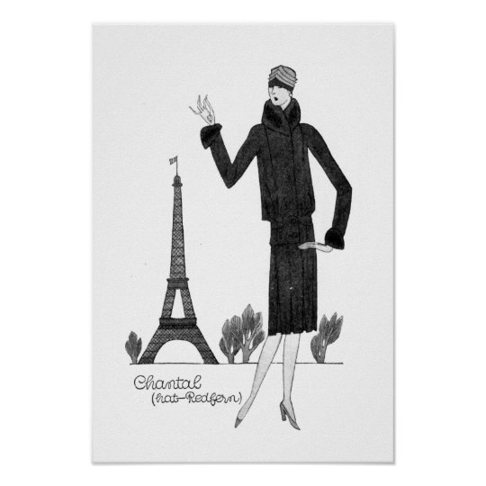 1920's Vintage French Style Eiffel Tower Poster