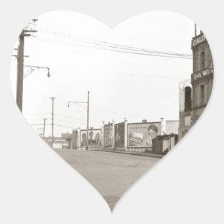 1920's vintage Street Photo Heart Sticker