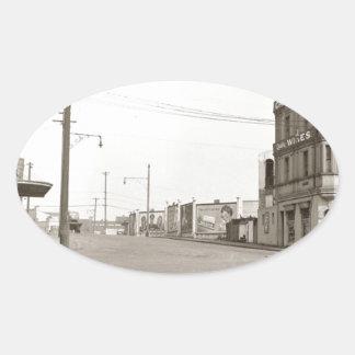 1920's vintage Street Photo Oval Sticker