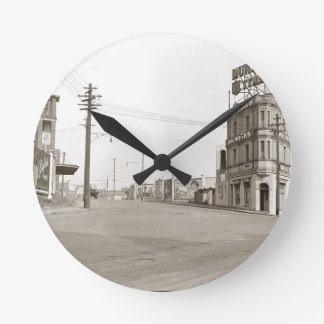 1920's vintage Street Photo Wall Clock