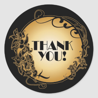 1920's Vintage Thank You Stickers
