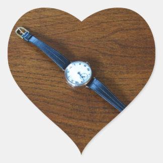 1920s Wrist Watch Heart Sticker