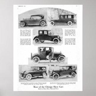 1921 Chicago Car Show Poster