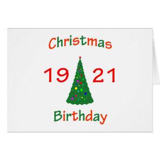 1921 Christmas Birthday Cards