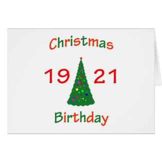 1921 Christmas Birthday Greeting Card