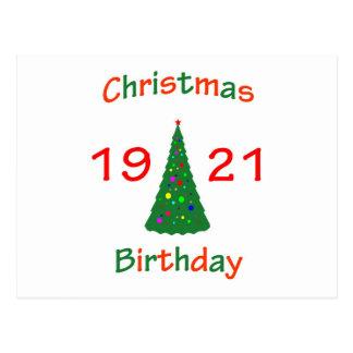 1921 Christmas Birthday Postcard