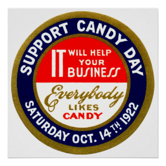 1922 Candy Day Print
