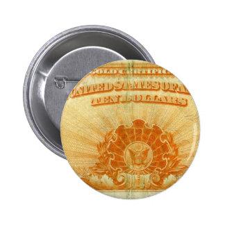 1922-Gold-Certificate 6 Cm Round Badge