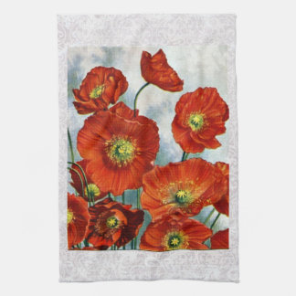 1922 Iceland Poppy Illustration Towel