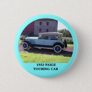 1922 Paige Touring Car 6 Cm Round Badge