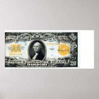 1922 US Gold Certificate Print