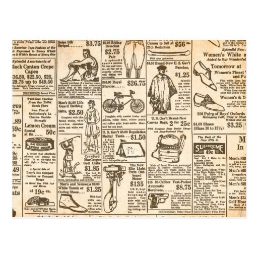 1922 Vintage Newspaper Advertisement Postcards
