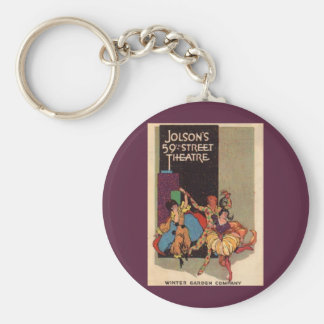 1923 Al Jolson's Theatre playbill cover Basic Round Button Key Ring