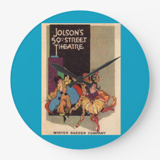 1923 Al Jolson's Theatre playbill cover Large Clock