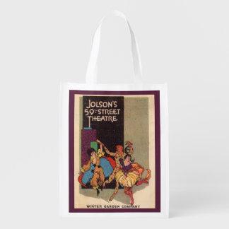 1923 Al Jolson's Theatre playbill cover Reusable Grocery Bag