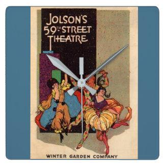 1923 Al Jolson's Theatre playbill cover Square Wall Clock
