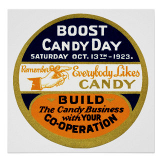 1923 Candy Day Poster