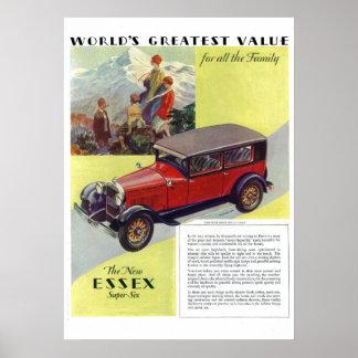1923 Essex Super-Six Vintage Poster