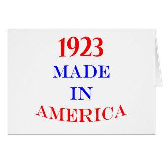 1923 Made in America Card