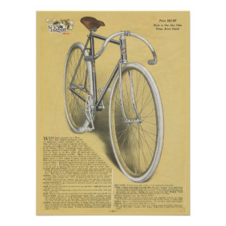 1923 Vintage Ranger Racer Bicycle Ad Art Poster