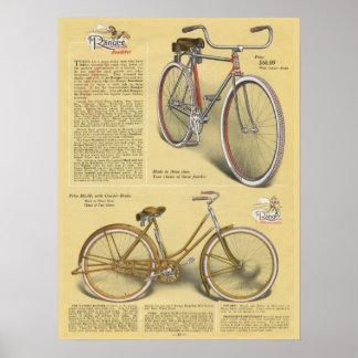 1923 Vintage Ranger Roadster Bicycle Ad Art Poster