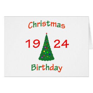 1924 Christmas Birthday Greeting Card
