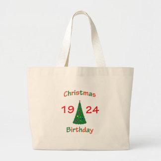 1924 Christmas Birthday Jumbo Tote Bag