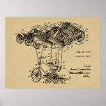 1924 Flying Bicycle Aeroplane Patent Drawing Print