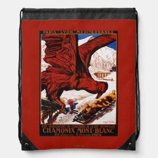1924 Olympic Winter Games Poster Drawstring Bag