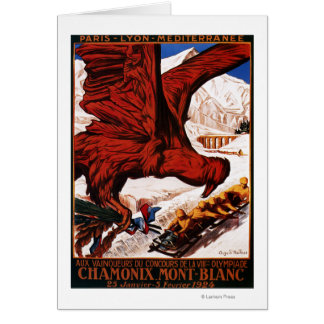 1924 Olympic Winter Games Poster Greeting Card