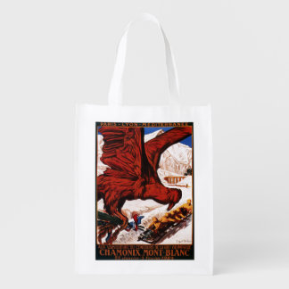 1924 Olympic Winter Games Poster Reusable Grocery Bag