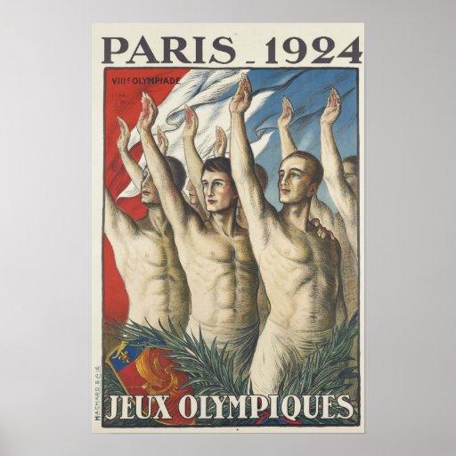 1924 Summer Olympics Poster