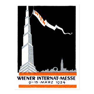 1924 Viennese International Exposition Postcard
