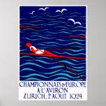 1924 Zurich Rowing Poster