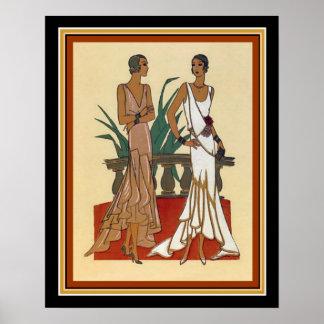 1925 Art Deco Fashion Print 16 x 20